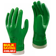 Showa 600 PVC Waterproof Gloves Green Medium