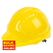 JSP EVO2 Mid Peak Non Vented Slip Ratchet Helmet Yellow