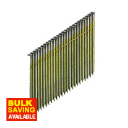 DeWalt Galvanised Collated Framing Stick Nails 2.8 x 75mm Pack of 2200