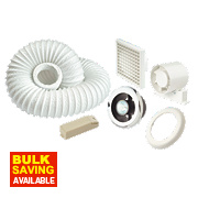 Manrose Shower Light & Extractor Fan Kit Chrome 100mm