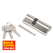 Smith & Locke 5-Pin Euro Double Cylinder Lock 35-50 (85mm) Nickel