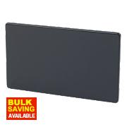 Varilight Jet Black Double Blank Plate