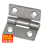Eclipse Steel Fixed Pin Hinges Self-Colour 25 x 22mm Pack of 2