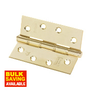 Eclipse Grade 7 Washered Fire Hinge Electro Brass 102 x 76mm Pk2