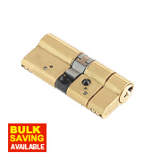 Yale AS Platinum Euro Cylinder 40-40 (80mm) Polished Brass