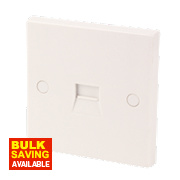 Secondary Telephone Socket White
