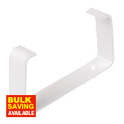 Manrose Rectangular Flat Channel Clips White 100mm Pack of 2