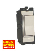 Varilight White 10A 2-Way & Off Retractive Switch