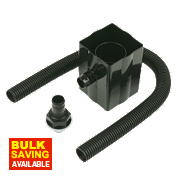 Rainwater Diverter Black 70mm