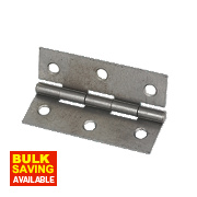 Steel Fixed Pin Hinges Self-Colour 75 x 51mm Pack of 2