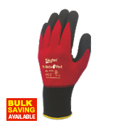Skytec Beta 1 Nylon Nitrile Gloves Red X Large