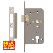 "Eclipse Din Standard Sashlock Stainless Steel 2¾"" (72mm) Backset"
