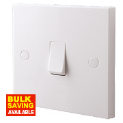 British General 1-Gang 1-Way 10AX Light Switch White