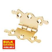 Butterfly Hinges Electro Brass 36 x 42mm Pack of 20