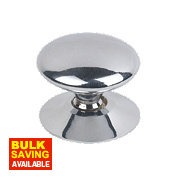 Victorian Cabinet Door Knob Polished Chrome 30mm Pack of 5