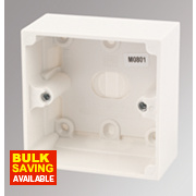 MK Logic Plus 1-Gang Surface Pattress Box White 44mm