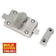 Bathroom Indicator Bolt Satin Stainless Steel