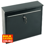 Sterling Elegance Rectangular Post Box Black Powder-Coated