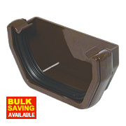 SQUARELINE EXT STOPEND BROWN 114MM RES1