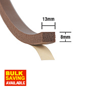 Stormguard Extra Thick Weatherstrip Brown 7m