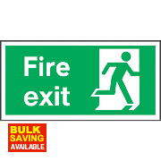 """Fire Exit"" Right Sign 150 x 300mm"