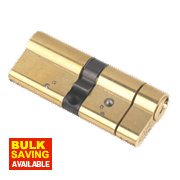 Yale Anti-Snap Euro Double Cylinder Lock 40-40 (80mm) Polished Brass