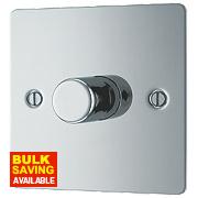 LAP 1-Gang 2-Way Push Dimmer Switch 400W/400VA Polished Chrome
