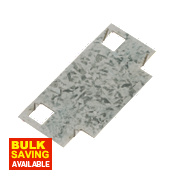 Sabrefix Protecta Safe Plate Galvanised 45 x 90mm Pk20