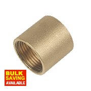"Brass Socket 1"" F x F"