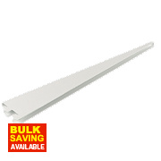 RB UK U-Brackets White 370 x 13mm Pack of 10