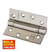 Adjustable Self-Closing Hinges Pol. Stainless Steel 76 x 102mm Pack of 2