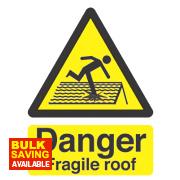 """""""Danger Fragile Roof"""" Sign 210 x 150mm"""