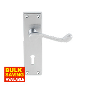 Carlisle Brass Victorian Door Handle Pack Satin Chrome