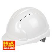 JSP EVO3 Comfort Plus Adjustable Slip Vented Safety Helmet White