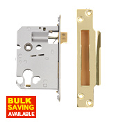 "Securefast Euro Cylinder Sashlock Polished Brass 3"" (76mm) Backset"