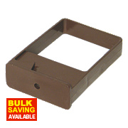 FloPlast Square Downpipe Clips Single Fix Brown 65mm Pack of 10