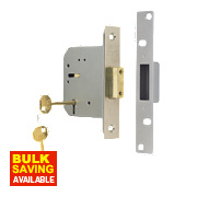 "ERA 5-Lever Mortice Deadlock Satin Nickel 3"" / 76mm"