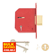 "Union 5-Lever Mortice Deadlock Brass 3"" / 81mm"