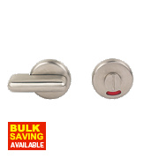 Eclipse WC Door Handle Pair Satin Stainless Steel