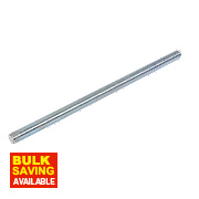 Easyfix Bright Zinc-Plated Steel Threaded Rods M16 x 300mm 5 Pack