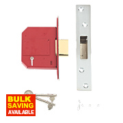 "Union BS 5-Lever Mortice Deadlock Stainless Steel 3"" / 76mm"