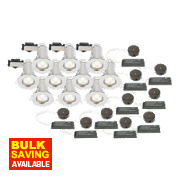 LAP Fixed Low Voltage FR Downlight Contractor Pack Polished Chrome 12V Pk10