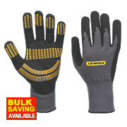 Stanley Razor Tread Gripper Gloves Grey Large