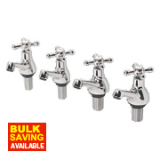 Swirl Traditional Bath & Basin Taps Pack Chrome