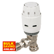Danfoss RAS-C² White & Chrome TRV 8/10mm Angled