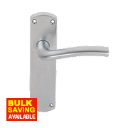 Serozzetta Cuatro Lever Bathroom Door Handle Pair Satin Chrome