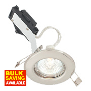 LAP Fixed Round Low Voltage Downlight Brushed Chrome 12V
