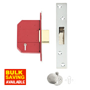 "Union BS 5-Lever Mortice Deadlock Stainless Steel 2½"" / 64mm"