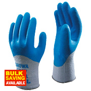 Showa 305 Grip Xtra Gloves Blue Medium