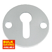 Standard Key Escutcheon Open Aluminium 32mm Pack of 5